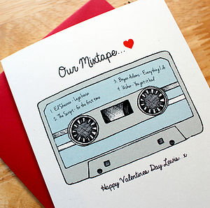 'Our Mixtape' Personalised Anniversary Card - anniversary gifts