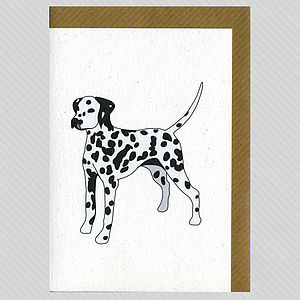 Illustrated Dalmatian Blank Card