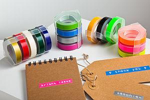 Retro Embossing Label Maker Refill Tape - stationery & desk accessories