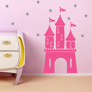 Magical Fairy Castle And Stars Wall Sticker - wall stickers