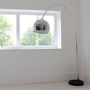Large Chrome Arch Floor Lamp - floor lamps