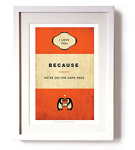 'We're On The Same Page' Print - gifts for him