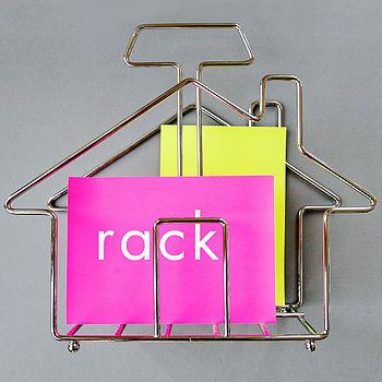 Metal House Shape Magazine Rack