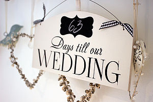 Countdown To Wedding Sign - room decorations