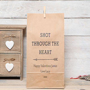 Personalised 'Shot Through The Heart' Bag