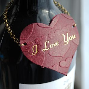 Textured Heart Bottle Necklace - drink & barware