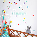 40 Multi Coloured Confetti Dot Wall Stickers