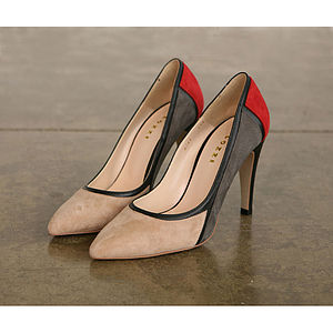 Suede Tricolore Pumps