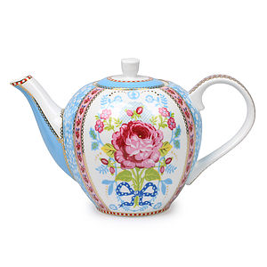 White Chinese Rose Teapot By Pip Studio