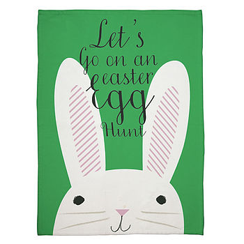 Funny Bunny Easter Tea Towel