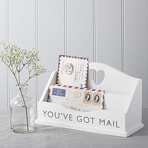 White Letter Rack - storage