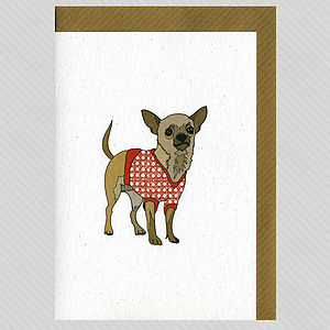 Illustrated Chihuahua Blank Card