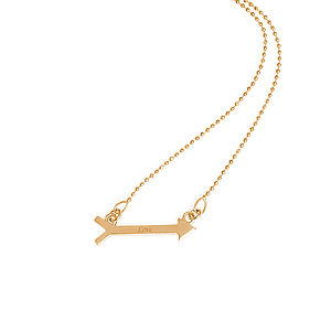 Personalised Arrow Necklace - personalised jewellery
