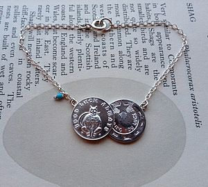 Double Coin Bracelet - charm jewellery