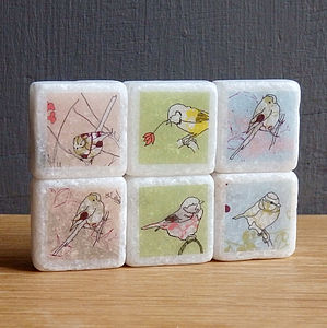 Littlebirdy Mini Marble Fridge Magnets - decorative accessories