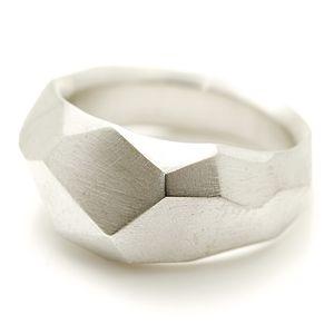 Silver Flint Ring - rings