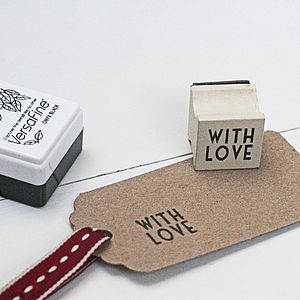 Mini 'With Love' Stamp - stamps & inkpads