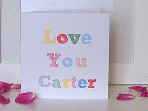 Personalised Valentines Card - valentine's cards