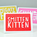 'Smitten Kitten' Valentines Day Card