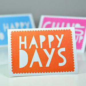 'Happy Days' Greetings Card