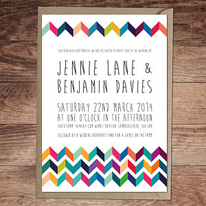 Chevron Wedding Invitation And Stationery - invitations