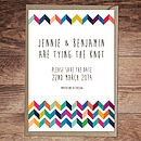 Chevron Wedding Invitation And Stationery