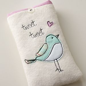 Personalised Bird Phone Case - bags & purses