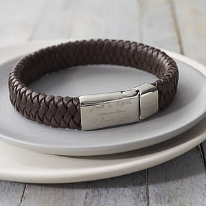Men's Engraved Message Bracelet - best gifts for him