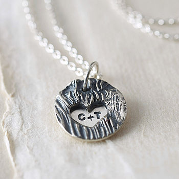 Personalised Initials Silver Locket