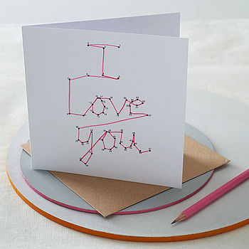 Dot To Dot 'I Love You' Card