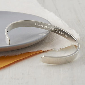 Secret Message Silver Bracelet - groom's accessories