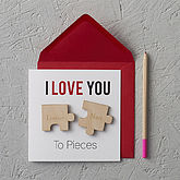 'I Love You To Pieces' Magnets Card - valentine's day