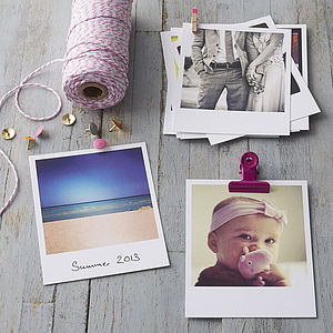 Personalised Polaroid Style Photo Cards - view all mother's day gifts