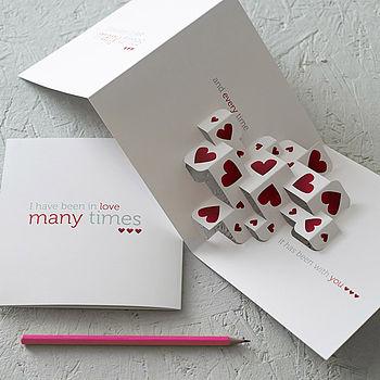 Much Love 3D Greetings Card