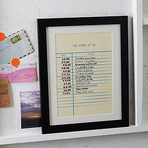 Personalised Story Library Card Print - home accessories
