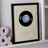 Personalised Framed Vinyl Record - mother's day