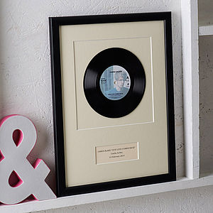 Personalised Framed Vinyl Record - mixed media & collage