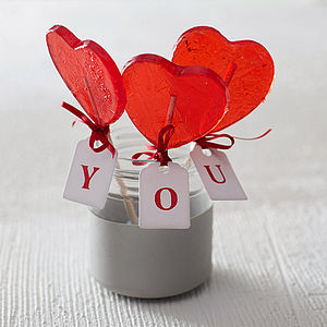 Heart Lollipop - edible favours