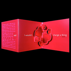 'Wouldn't Change A Thing' Card In Red - anniversary cards