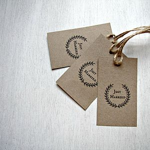 Just Married Gift Tags - table decorations