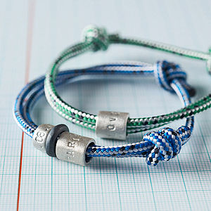 Personalised Men's Rope Bead Bracelet - gifts from younger children
