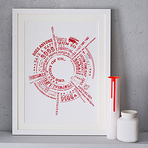 Personalised 'Story Of Us' Print - for him