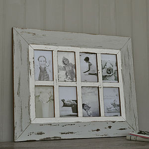 Grey Wooden Multi Photo Frame - picture frames