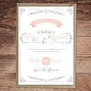Vintage Flourish Wedding Invitation Version One