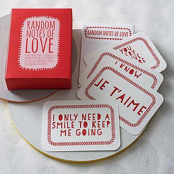 'Random Notes Of Love' Notecards