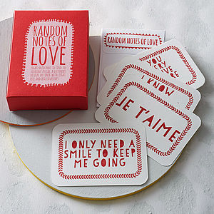 'Random Notes Of Love' Notecards - gifts for him