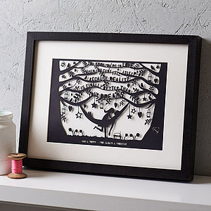 Personalised Dr Seuss Dreams Papercut - gifts for her