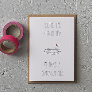 You're The Kind Of Boy Valentine's Card - valentine's cards