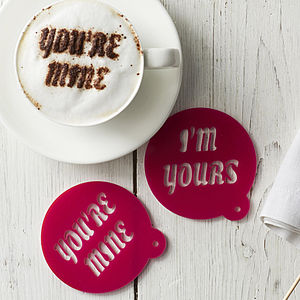 Personalised Message Coffee Stencil - gifts for her