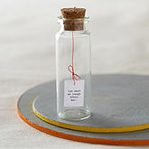Tiny Message In A Bottle - anniversary gifts